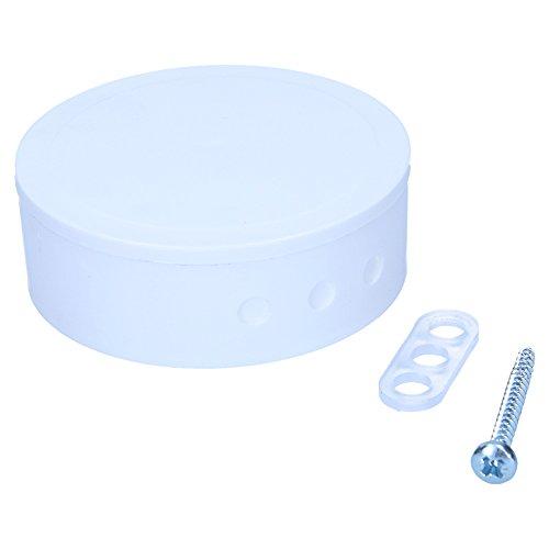 Deckenverteiler mit Deckel weiß 75mm Durchmesser ca. 23mm hoch Deckenbaldachin rund mit 6 Lochstanzungen