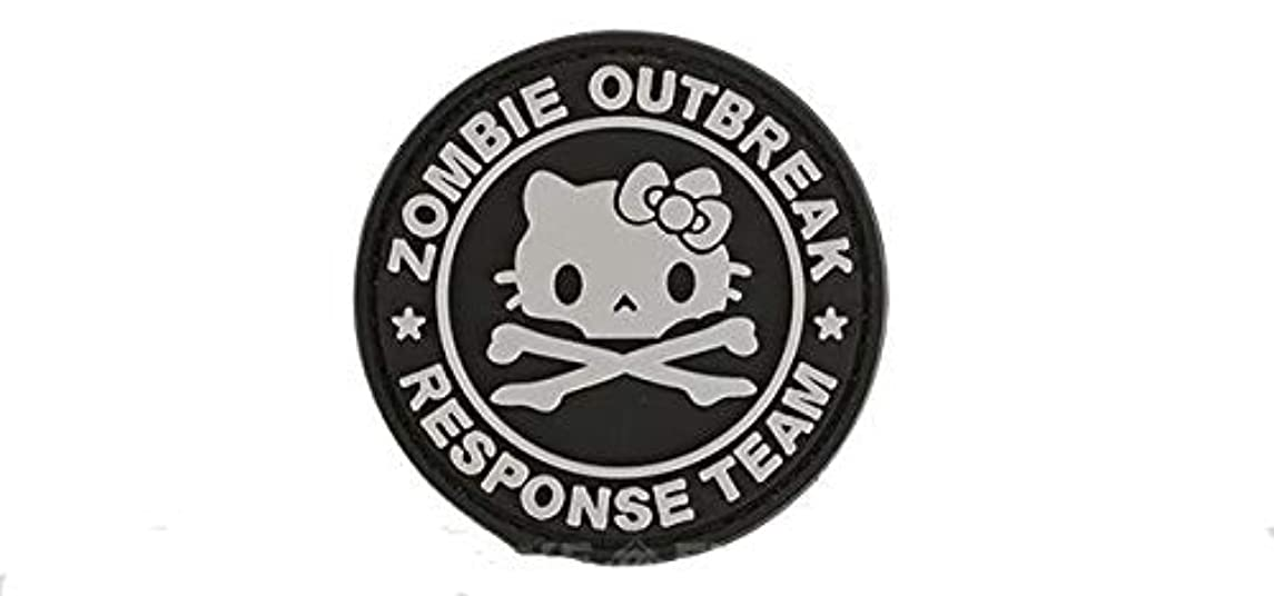 Morton Home Tactical Morale Patch Zombie Outbreak Response Team Embroidered PVC Applique Tactical Hook Rubber Patches (Kitty)