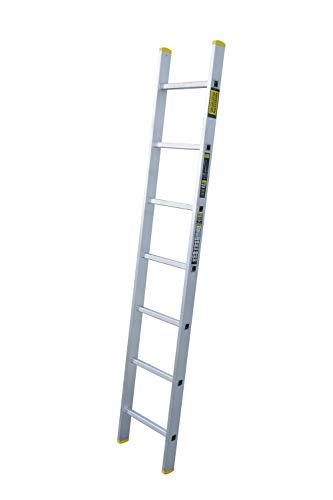Aluminium Anlegeleiter einteilig, 7 Stufen bei 191 cm