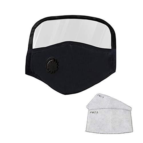 Skang Reutilizables Infantil Protector Facial Tela de Algodón con Válvulas de Respiración Gafas Protectoras Filtros de Carbón Activo Transpirables Para Exteriores