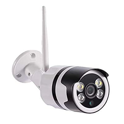 Outdoor Security Camera, WiYA 1080P HD Outdoor Surveillance Cameras with Dual Light Night Vision, Motion Detection, Two-Way Audio, IP66 Waterproof, Wired or WiFi Outdoor Camera(Updated Version)