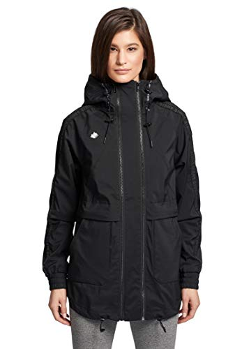 khujo Damen Jacke MAARIT leichte Übergangsjacke Sommerjacke mit Kapuze und Logo-Details
