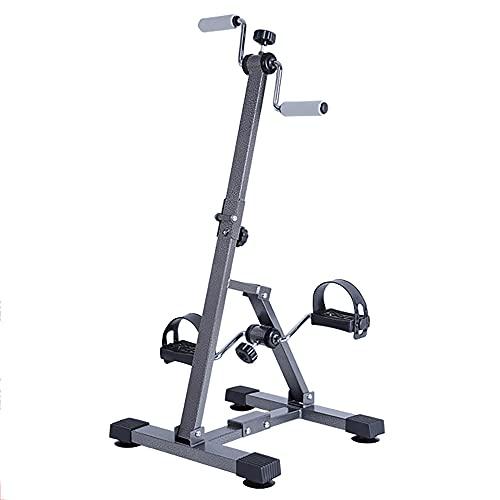 Entrenador de Pies y Manos, ejercitador de pedales plegables, bicicleta de ejercicios para entrenamiento de extremidades superiores e inferiores para ancianos/Black / 90.5x42.5x40.5cm