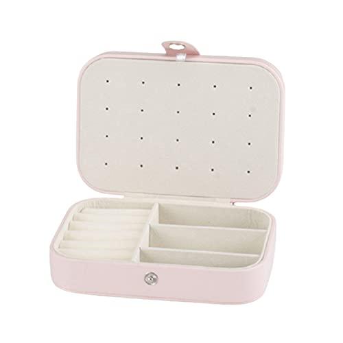 Beifeng Caja de almacenamiento de plástico con 2 capas pequeña portátil y duradera, ideal para pendientes, anillos, corbatas y pulseras