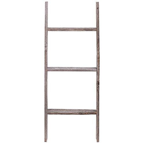 3' Reclaimed Barnwood Rustic Ladder