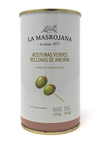 Grüne Manzanilla-Oliven gefüllt mit Anchovis 150g Dose