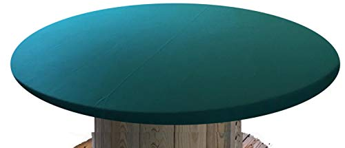Felt Poker Table Cover - Patio Tablecloth Bonnet with Elastic Band- For Round 36 Inch Table - Patio Table (Green, 60 inch round)