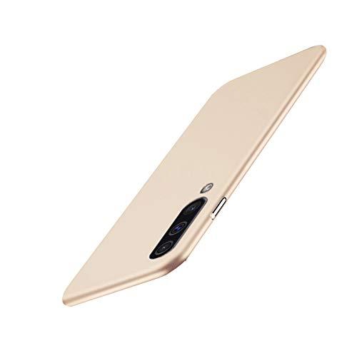 Kompatibel mit Samsung Galaxy A50 Hülle Galaxy A70 Schutz Hart Handyhülle Geschäfts Stil Ultra Dünn Anti-Rutsch Anti-Fingerabdruck Hardcase (Gold, Galaxy A70)
