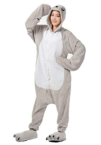 Ovender® Kigurumi Carnaval Unisex Animal Pyjama voor Volwassen Kostuum Halloween Cosplay Stitch Blauw Rood Partij Zoo Onesies Tracksuit Hooded Flannel Slaapkleding