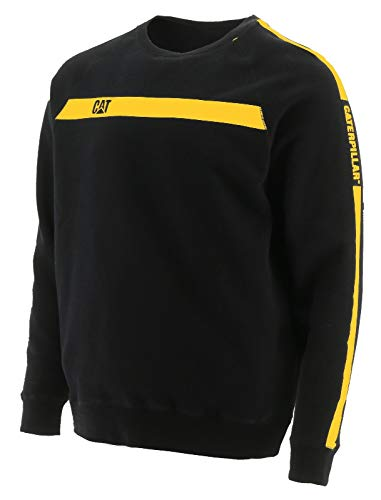 Caterpillar CAT Werkkleding Mens Icon Streep Crew Neck Contrast Werk Jumper