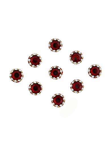 Richie Rich Maroon Colour Round Shape Bindis For Ladies Stone...