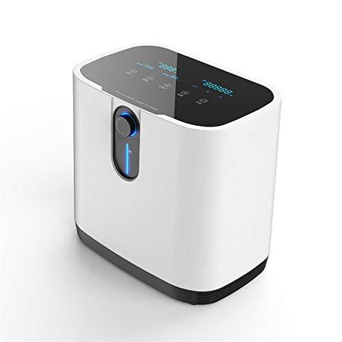 Concentrador de oxígeno, Kacsoo 90% ± 3% Máquina de oxígeno ajustable de flujo de 1-7L / min de alta pureza con función de atomización, bajo nivel de ruido para uso doméstico y cuidado personal