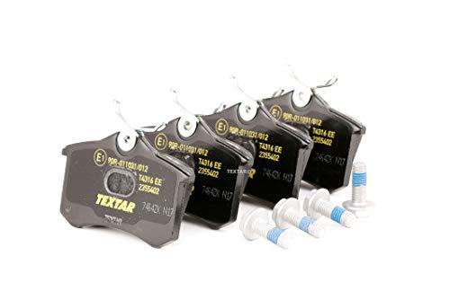 Preisvergleich Produktbild Textar 2355402 Bremsbelagsatz,  Scheibenbremse,  Schwarz