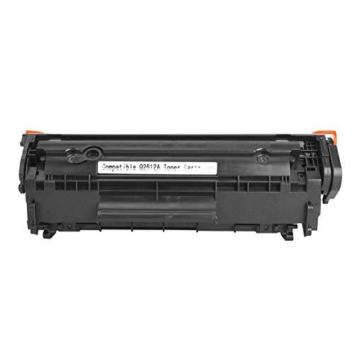 Jopwkuin Polvo Negro fácil de Agregar, Cartucho de tóner Negro de Repuesto, Cartucho de tóner 2612A, para Canon LBP-2900/3000 / L11121E para HP M1005 / M1005MFP(Black)