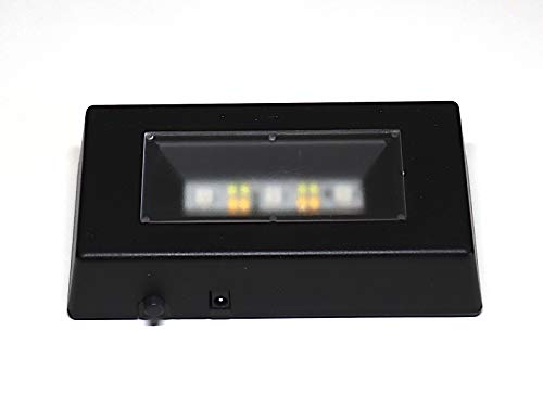 C-Kom LED Leuchtsockel 110x60mm schwarz RGB Glasfoto Untersetzer Beleuchtung Deko Lasergravur Foto Dekoration