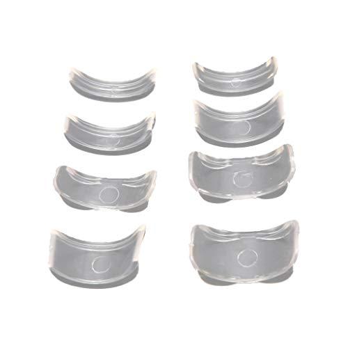 Weiqu 8 tailles Silicone Invisible Clear Ring Size Ajusteur Resizer, anneaux lâches réducteur bague Sizer Fit tous les anneaux outils de bijoux, pour la fabrication de bijoux bricolage