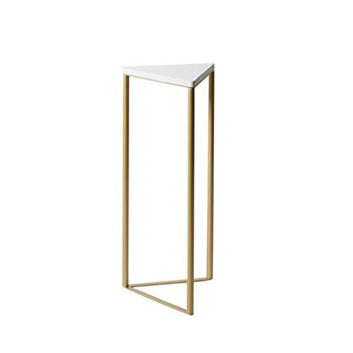 YAQ-Muebles de oficina Mármol Triángulo de la tabla, acabado blanco anidamiento Mesa de café for Mostrar Sala de estar Tienda de ropa Soporte SOPORTE Balcón flor Mesas de pedestal