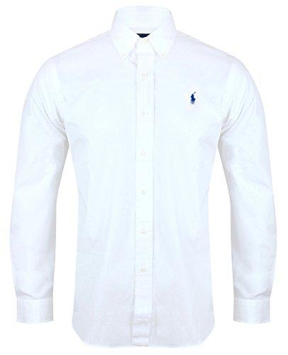 Ralph Lauren Polo-Hemd Popeline, passgenau, weiß, marineblau, schwarz, S–XXL Gr. M, weiß