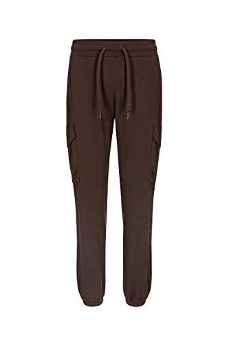 super. Natural Pantalon de W Cargo en Laine mérinos M Marron