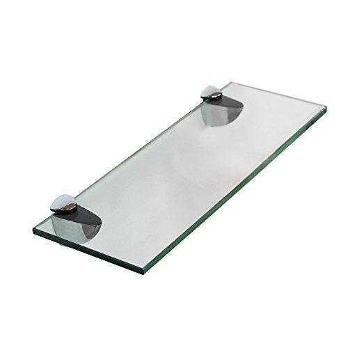 Melko Glasablage, Glasregal ideal für Bad, Dusche und zur modernen Dekoration mit Halterung aus...