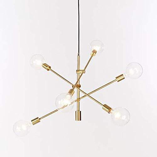 HOUTIAXDYT Nordic posmoderno Minimalista Lámpara de araña Creativa Chandelier de Hierro Forjado Ladrón LED Línea geométrica Araña