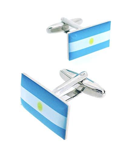 Gemelolandia   Gemelos para Camisa de la Bandera Argentina Gemelos Originales Para Camisas   Para Hombres y Niños   Regalos Para Bodas, Comuniones, Bautizos y Otros Eventos