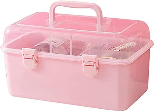 Xummy Caja de almacenamiento de accesorios para el pelo, caja de joyería para niños, caja de plástico para niñas, tamaño M