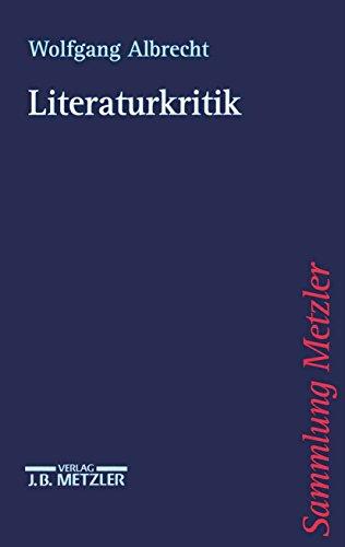 Literaturkritik (Sammlung Metzler)