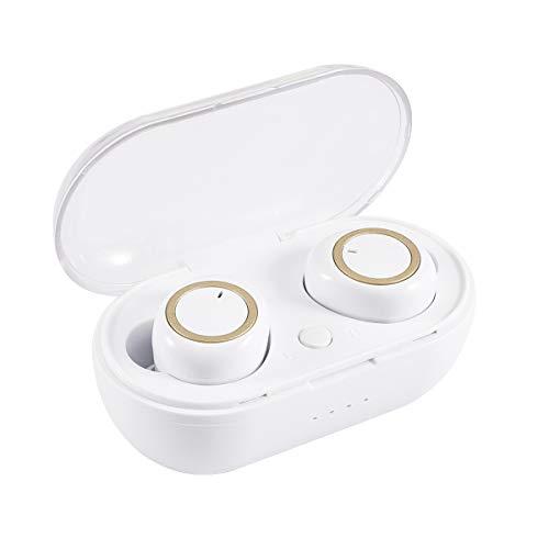 Amyove Auriculares inalámbricos Auriculares estéreo TWS Mini Bluetooth 5.0 Auriculares estéreo Oro...