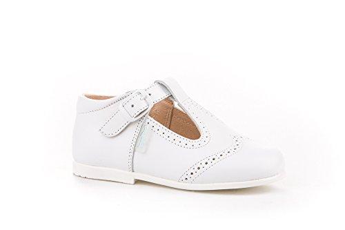Zapatos Pepitos para niños Todo Piel mod.507. Calzado infantil Made in Spain, Garantia de calidad. (19, Blanco)