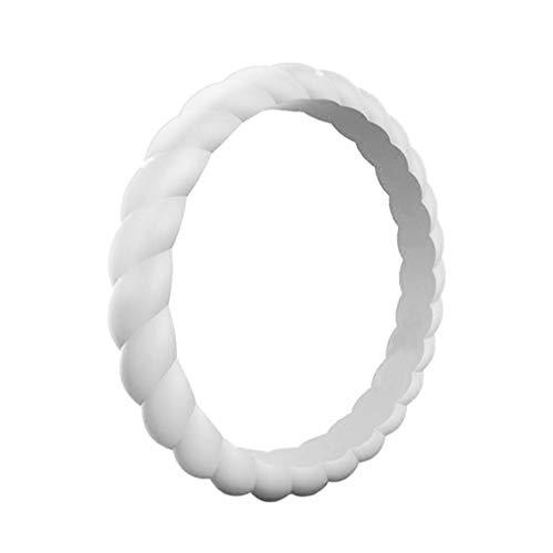BESPORTÁVEL Aliança de casamento empilhável de silicone de 3 mm 10 peças para ginástica fitness esporte número 5 (aleatória de cor), Picture 1, Size 4