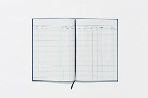 Guildhall Account Book - Libro contable de 80 páginas (298 x 203 mm), azul