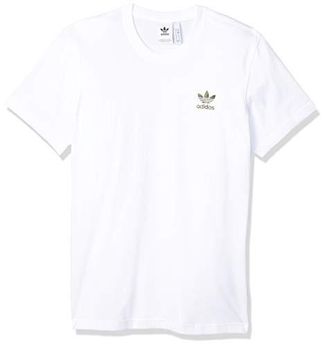 adidas Herren T-Shirt CAMO ESS T, White, L, FM3355
