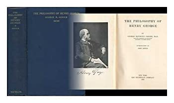 Hardcover The Philosophy of Henry George. Book