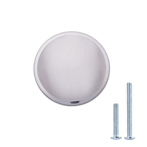 Amazon Basics - Pomolo a fungo per mobili, Diametro: 3,02 cm, Nichel satinato, confezione da 25