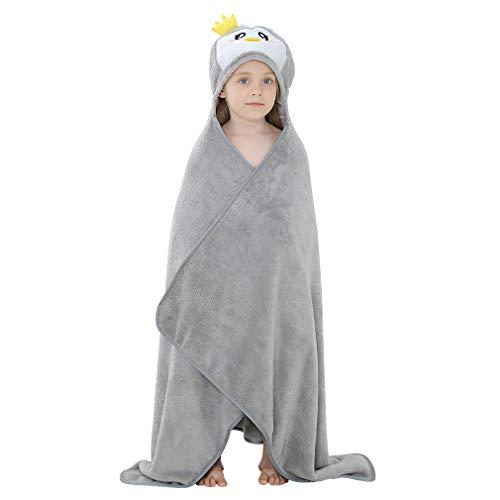 MICHLEY BéBéServiette à Capuche animaux Mignon Coton Sortie de bain Enfant Peignoir Cape de Bain, 135 * 80cm, 0-6 Jahre alt