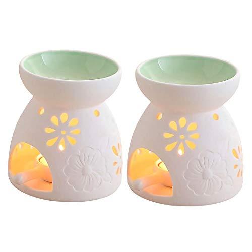 Singeek Ceramic Tea Light Candle Holder/Wax Melt Warmer, Essential Oil...