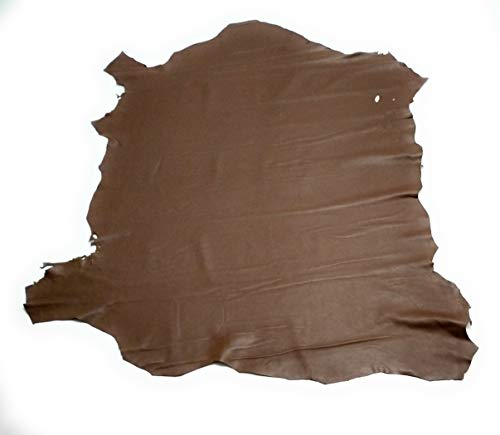 Yojan Piel - Pieles naturales Retal cuero Retal piel manualidades Cuero para artesanos Retal piel (MARRÓN CLARO) | Ideal para Reparaciones