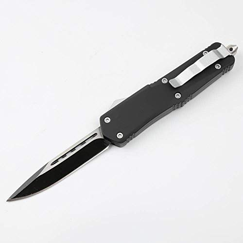 eS Double Action Knives Black Single Blade Folding Knife