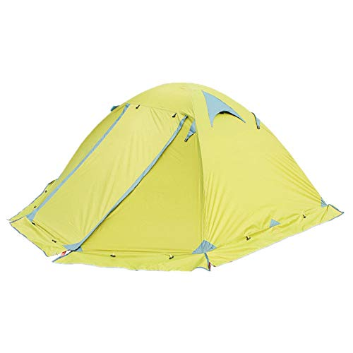 Strandzelt Doppeltes doppeltes Aluminiumpfosten-Regen-und Schnee-Lichtschutzzelt-Campingzelt im Freien Camping Zelt (Color : Green, Size : 250CM*210CM*115CM)