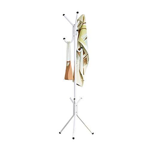 Kapstok Stand Metal Staande Hanger grote capaciteit op 6 Haken Umbrella Stand Triangular Stable Chassis (Kleur: Zwart) LQH (Color : White)