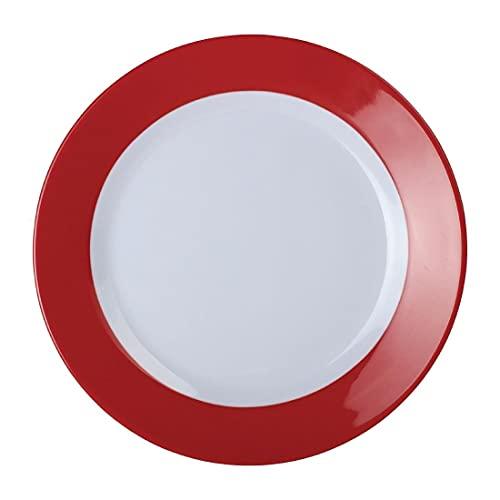 Kristallon DE600 Gala Assiette en mélamine Rouge 195 mm