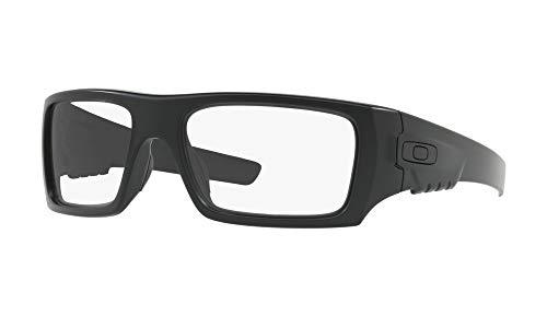 Oakley Clean Industrial Det Cord Glasses (Matte Black Frame / Clear Lens) with USA Flag Lens Cleaning Kit