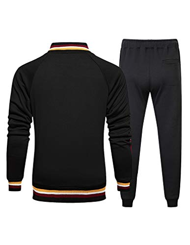 Lavnis Men's Casual Tracksuit T-Shirts and Shorts Running Jogging Athletic Sports Set - - XL