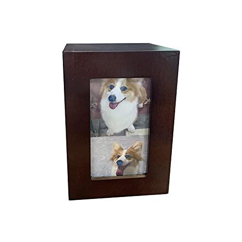 Haustier-Urnen für Hunde, Asche, hölzerne Gedenkurne für Hund, Katze, menschliche Erwachsene, 20,3 x 10,2 cm, große Dekoration, Andenken-Boxen, gravierte Urnen Regenbogenbrücke