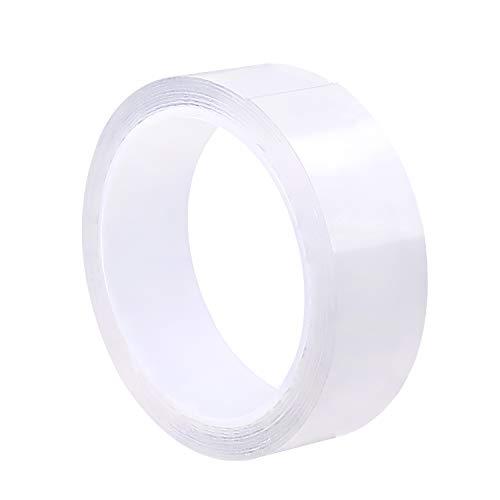 KOYOI 防カビテープ のり残らず 繰り返し 防水 防油 防カビ 汚れ防止 強力 透明 洗濯可能 多機能 防水テープ 補修テープ 台所 キッチン バスルーム 浴槽まわり ベランダ 洗面台用など (0.8mmx30mmx3m)