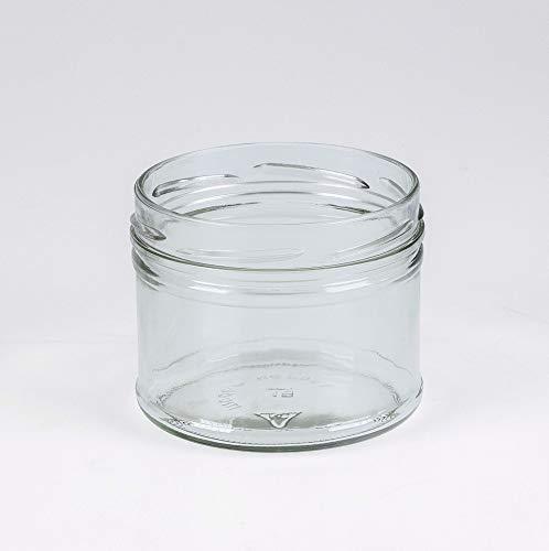 Flaschenbauer- 12x Sturzgläser 475ml inkl. goldene Twist Off Verschlüsse zum Einmachen von Suppen, oder zur Aufbewahrung von Tee und Kräuter.