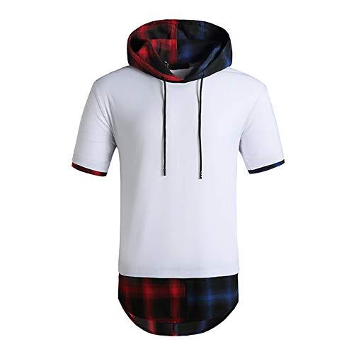 SSBZYES Camisetas De Manga Corta para Hombre Camisetas De Verano para Hombre Sudaderas con Capucha para Camisetas con Capucha Código Europeo Moda Hip-Hop con Capucha Camisetas Casuales De Manga Corta