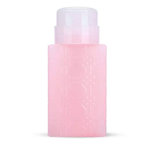 Portable pompe rechargeable bouteille de distributeur Nail Art polonais Démaquillant Lotion Container Nouvel outil pour les ongles bouteille de presse (Color : Pink)