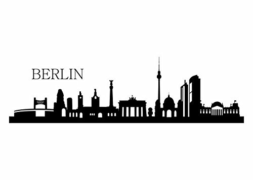 Wandtattooladen Wandtattoo - Skyline Berlin Größe:140x39cm Farbe: Schablone